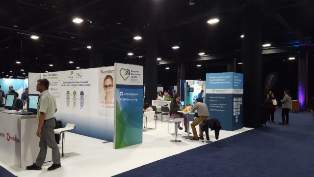 Exhibition floor at Connected Health conference